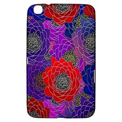 Colorful Background Of Multi Color Floral Pattern Samsung Galaxy Tab 3 (8 ) T3100 Hardshell Case
