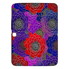 Colorful Background Of Multi Color Floral Pattern Samsung Galaxy Tab 3 (10.1 ) P5200 Hardshell Case