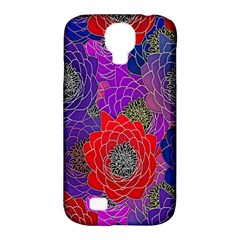 Colorful Background Of Multi Color Floral Pattern Samsung Galaxy S4 Classic Hardshell Case (pc+silicone)