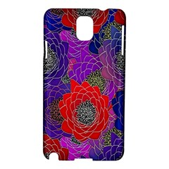 Colorful Background Of Multi Color Floral Pattern Samsung Galaxy Note 3 N9005 Hardshell Case
