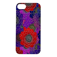 Colorful Background Of Multi Color Floral Pattern Apple Iphone 5s/ Se Hardshell Case