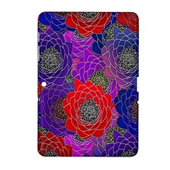 Colorful Background Of Multi Color Floral Pattern Samsung Galaxy Tab 2 (10 1 ) P5100 Hardshell Case