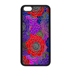 Colorful Background Of Multi Color Floral Pattern Apple iPhone 5C Seamless Case (Black)