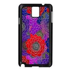 Colorful Background Of Multi Color Floral Pattern Samsung Galaxy Note 3 N9005 Case (black)