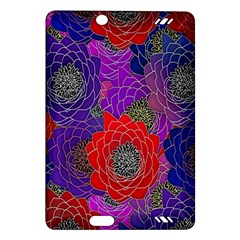 Colorful Background Of Multi Color Floral Pattern Amazon Kindle Fire HD (2013) Hardshell Case
