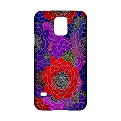 Colorful Background Of Multi Color Floral Pattern Samsung Galaxy S5 Hardshell Case