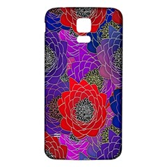 Colorful Background Of Multi Color Floral Pattern Samsung Galaxy S5 Back Case (white)