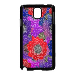 Colorful Background Of Multi Color Floral Pattern Samsung Galaxy Note 3 Neo Hardshell Case (black)