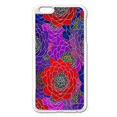 Colorful Background Of Multi Color Floral Pattern Apple Iphone 6 Plus/6s Plus Enamel White Case