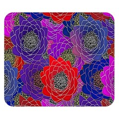 Colorful Background Of Multi Color Floral Pattern Double Sided Flano Blanket (Small)