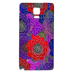 Colorful Background Of Multi Color Floral Pattern Galaxy Note 4 Back Case