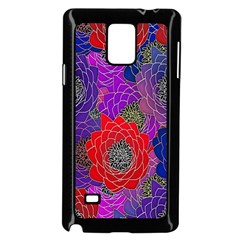Colorful Background Of Multi Color Floral Pattern Samsung Galaxy Note 4 Case (black)