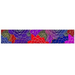 Colorful Background Of Multi Color Floral Pattern Flano Scarf (Large)