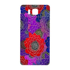Colorful Background Of Multi Color Floral Pattern Samsung Galaxy Alpha Hardshell Back Case