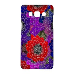 Colorful Background Of Multi Color Floral Pattern Samsung Galaxy A5 Hardshell Case