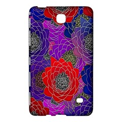 Colorful Background Of Multi Color Floral Pattern Samsung Galaxy Tab 4 (8 ) Hardshell Case