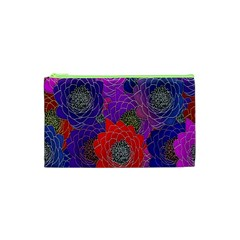 Colorful Background Of Multi Color Floral Pattern Cosmetic Bag (xs)