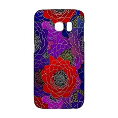 Colorful Background Of Multi Color Floral Pattern Galaxy S6 Edge