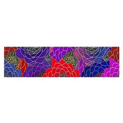Colorful Background Of Multi Color Floral Pattern Satin Scarf (oblong)