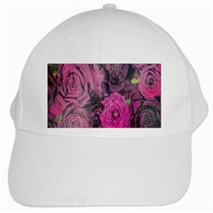 Oil Painting Flowers Background White Cap