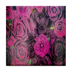 Oil Painting Flowers Background Tile Coasters