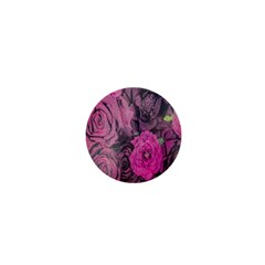 Oil Painting Flowers Background 1  Mini Buttons