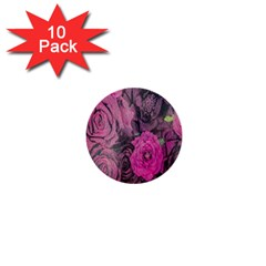 Oil Painting Flowers Background 1  Mini Buttons (10 pack)