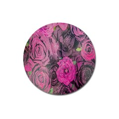 Oil Painting Flowers Background Magnet 3  (Round)
