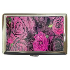 Oil Painting Flowers Background Cigarette Money Cases