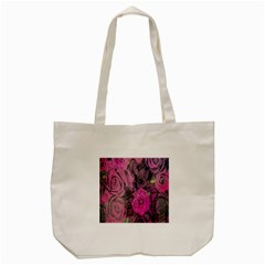 Oil Painting Flowers Background Tote Bag (cream)