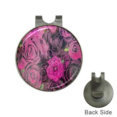 Oil Painting Flowers Background Hat Clips with Golf Markers