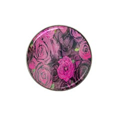 Oil Painting Flowers Background Hat Clip Ball Marker (4 Pack)
