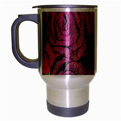 Oil Painting Flowers Background Travel Mug (silver Gray)