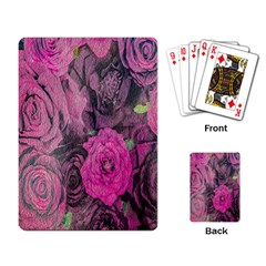 Oil Painting Flowers Background Playing Card
