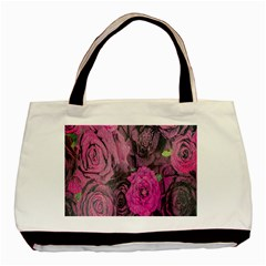 Oil Painting Flowers Background Basic Tote Bag
