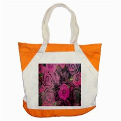 Oil Painting Flowers Background Accent Tote Bag