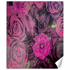 Oil Painting Flowers Background Canvas 8  x 10