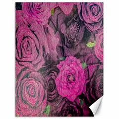 Oil Painting Flowers Background Canvas 18  x 24