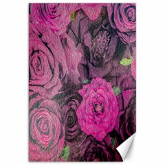 Oil Painting Flowers Background Canvas 20  x 30