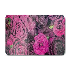 Oil Painting Flowers Background Small Doormat