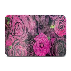 Oil Painting Flowers Background Plate Mats