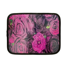 Oil Painting Flowers Background Netbook Case (Small)