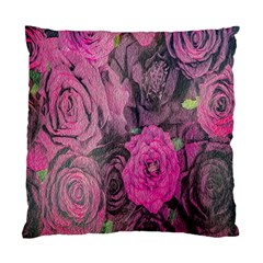 Oil Painting Flowers Background Standard Cushion Case (two Sides)