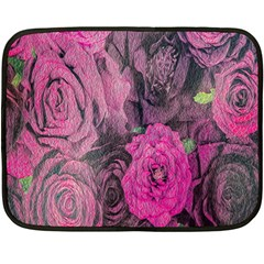 Oil Painting Flowers Background Fleece Blanket (Mini)