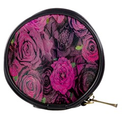 Oil Painting Flowers Background Mini Makeup Bags