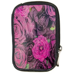 Oil Painting Flowers Background Compact Camera Cases