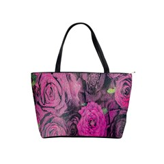 Oil Painting Flowers Background Shoulder Handbags