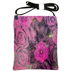 Oil Painting Flowers Background Shoulder Sling Bags