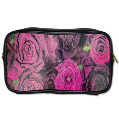 Oil Painting Flowers Background Toiletries Bags 2 Side