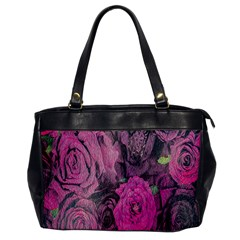 Oil Painting Flowers Background Office Handbags